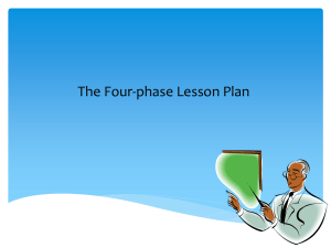 Four Phase Lesson Plan Slides