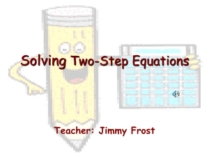 Solving Two Step Equations PPT