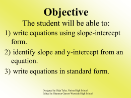 Slope-Intercept PPT