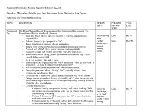 Assessment Committee Meeting Report for February 22, 2008