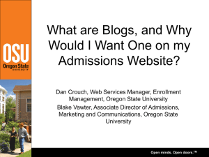 What are Blogs, and Why Would I Want One on my Admissions Website?