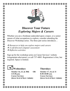 Discover Your Future Exploring Majors & Careers