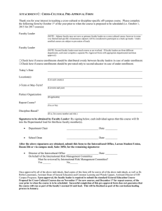 Cross-Cultural Pre-Approval Form