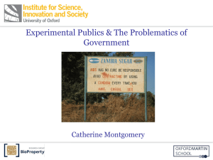 Dr Catherine Montgomery, Institute for Science, Innovation and Society (InSIS), University of Oxford [PPT 7.16MB]
