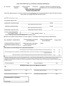 Proposal Transmittal Form