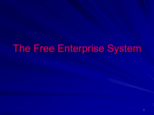 The Free Enterprise System 1