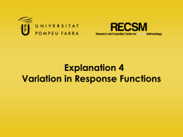 Explanation 4 Variation in Response Functions
