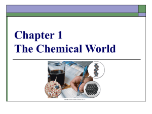 Chapter 1 The Chemical World