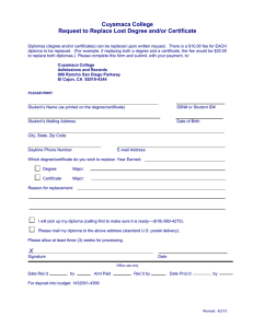 Diploma/Certificate Replacement Form