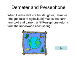 story of demeter and persephone summary