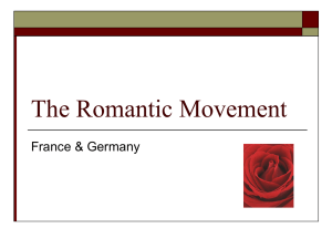 Lecture #6 Romantic France Germany