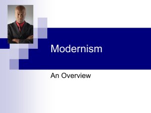 Lecture #11 Modernism