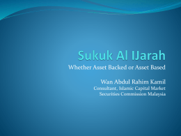 Whether Asset Backed or Asset Based Wan Abdul Rahim Kamil