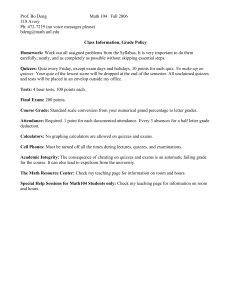 Class Information, Rules, and Policy