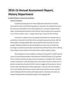 History_2014-15 Annual Assessment Report