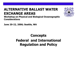 Alternative Exchange Areas: Concepts, Federal and International Legislation, Regulation and Policy