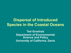 Dispersal of Introduced Species in the Coastal Oceans