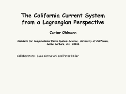 The California Current System from a Lagrangian Perspective