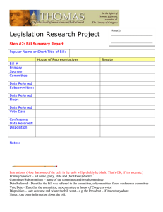 Legislation Research Project