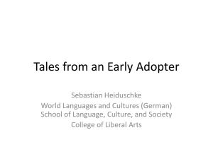 Tales from an Early Adopter