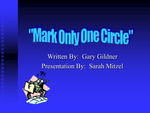 Written By:  Gary Gildner Presentation By:  Sarah Mitzel