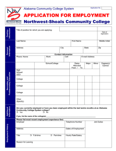 NW-SCC Job Application (Microsoft Word Format)