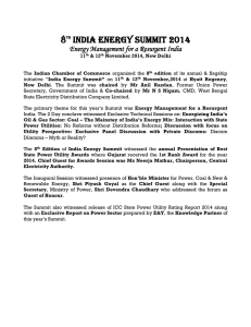 8 India Energy Summit 2014 Energy Management for a Resurgent India