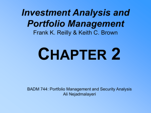 C 2 HAPTER Investment Analysis and