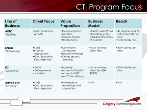 CTI Program Focus