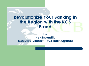 Revolutionize Your Banking in the Region with the KCB Brand