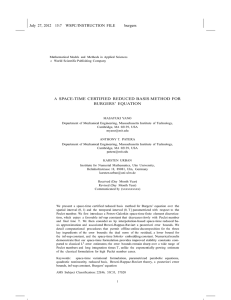 A SPACE-TIME CERTIFIED REDUCED BASIS METHOD