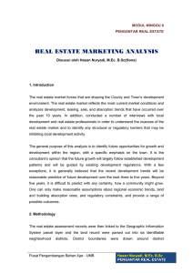 REAL ESTATE MARKETING ANALYSIS