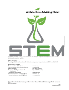 Architecture Advising Sheet