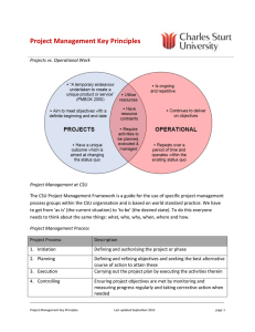 Project Management Key Principles