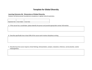 Global Diversity Template