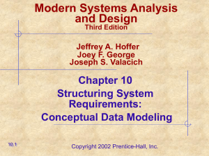 Modern Systems Analysis and Design Chapter 10 Structuring System