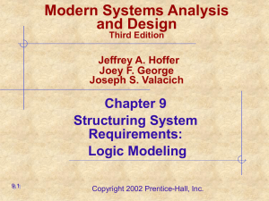 Modern Systems Analysis and Design Chapter 9 Structuring System