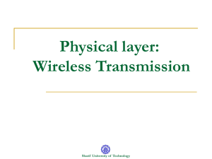 Physical layer: Wireless Transmission Sharif  University of  Technology