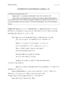 Class handout concerning Lemma 1.22 (a portion of Section 1.5)