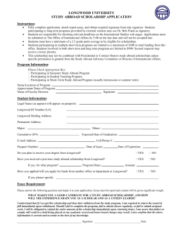 Scholarship Form | Study Abroad Scholarship Application Form