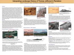 Interpreting Landscape History of Thomas Jefferson's Plantation