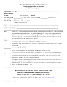Research Assistantship Application