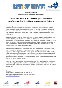 MEDIA RELEASE Coalition Policy on marine parks renews