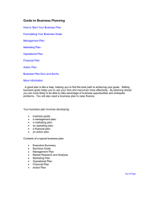 Guide To Business Planning (Word Doc – 70kb)