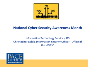 National Cyber Securtiy Awareness Month Presentation