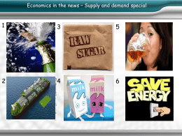 1 3 5 Economics in the news – Supply and demand special