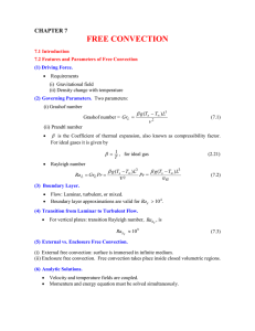 FREE CONVECTION  CHAPTER 7