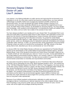 Read Lisa P. Jackson s Citation