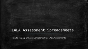 LALA Assessment PowerPoint Presentation