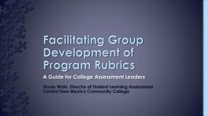 Facilitating Group Development of Program Rubrics: A Guide for College Assessment Leaders (pptx)